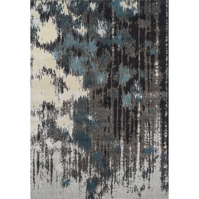 Dylan Gray Area Rug Rug Size: 53 x 77