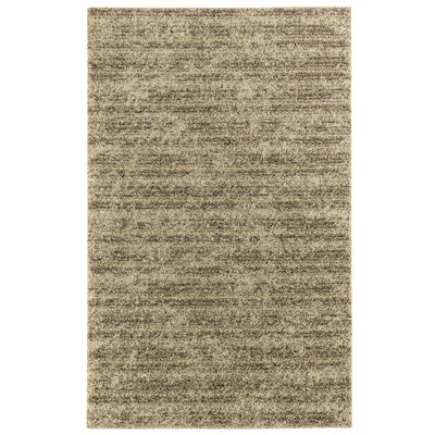 Oren Stripe Beige Area Rug Rug Size: 5 x 8