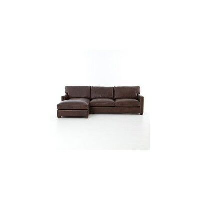Polson Sleeper Sectional Upholstery: Vintage Cigar