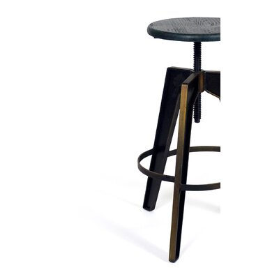 Halie Distressed Adjustable Height Swivel Bar Stool