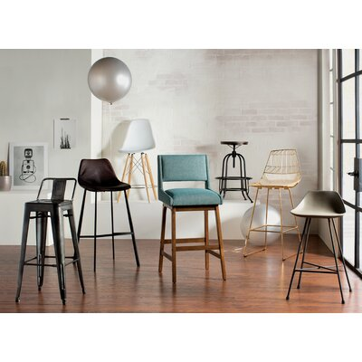 Keomi Adjustable Height Swivel Bar Stool