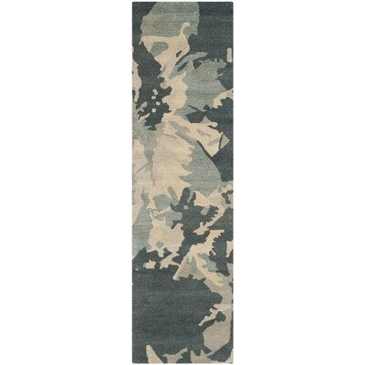 Adan Steel Blue Area Rug Rug Size: Runner 23 x 8