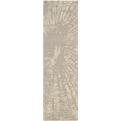 Adan Taupe Area Rug Rug Size: Runner 23 x 8