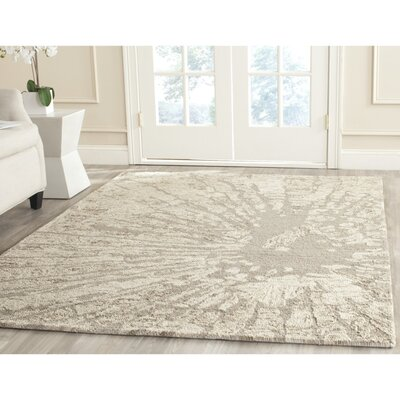 Adan Taupe Area Rug Rug Size: Square 6