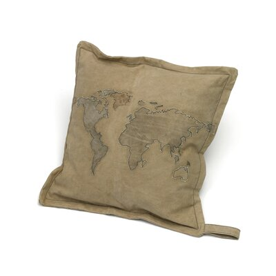 Alpha World Map Throw Pillow