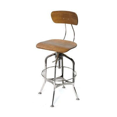 Seely Adjustable Height Swivel Bar Stool