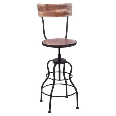 Micha Adjustable Height Swivel Bar Stool