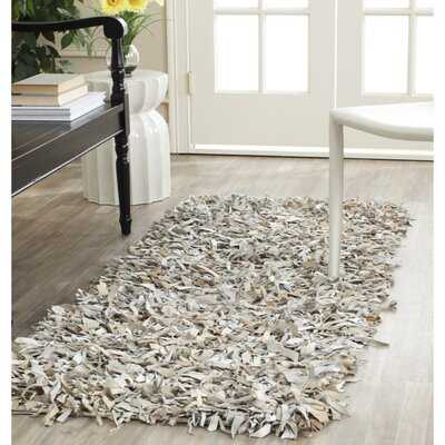 Carrol White Area Rug Rug Size: Runner 23 x 9