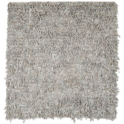 Carrol White Area Rug Rug Size: Square 6