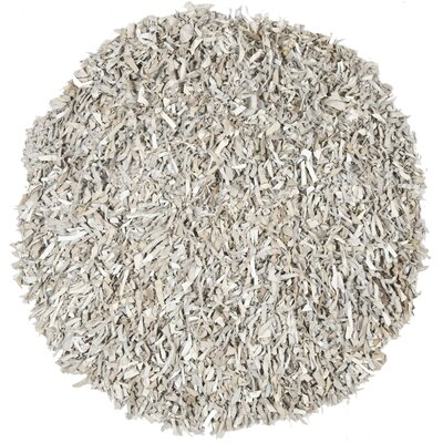 Carrol White Area Rug Rug Size: Round 4
