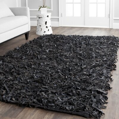 Carrol Black Area Rug Rug Size: Square 6