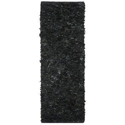 Carrol Black Area Rug Rug Size: Runner 23 x 11