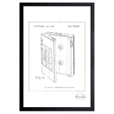 'Cassette Player 1985' Framed Memorabilia in Silver Frame Color: Silver 1B01397_13x19_GLOS_SILVER_SLFL