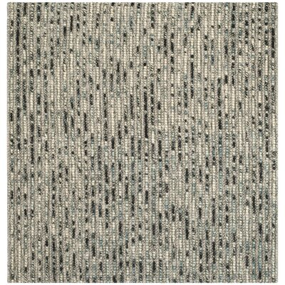 Silvia Hand-Wovn Natural Area Rug Rug Size: Square 8