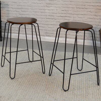Taryn 24 Counter Bar Stool Finish: Elm