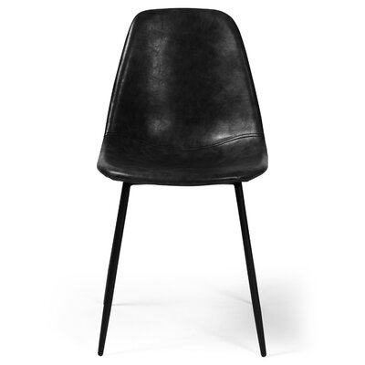 Lafayette Side Chair Upholstery: Faux Leather - Charcoal