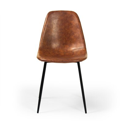 Lafayette Side Chair Upholstery: Faux Leather - Honey