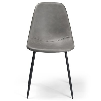 Lafayette Side Chair Upholstery: Faux Leather - Smoke