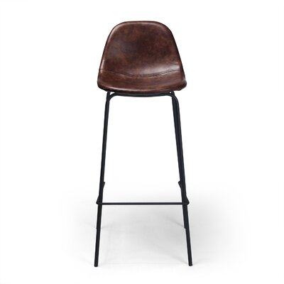 Lafayette 30.5 inch Bar Stool Upholstery: Tobacco