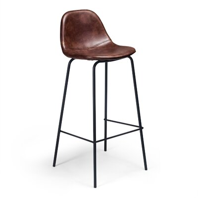 Lafayette 30.5 Bar Stool Upholstery: Tobacco