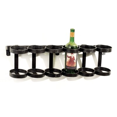 Antwerp 6 Bottle Wall Mounted Wine Rack