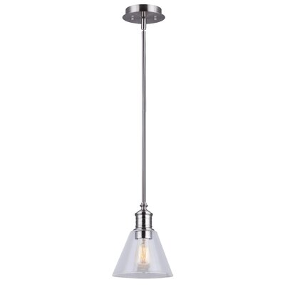 Whitaker 1-Light Mini Pendant Finish: Brushed Nickel