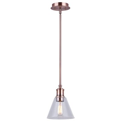 Whitaker 1-Light Mini Pendant Finish: Bronze