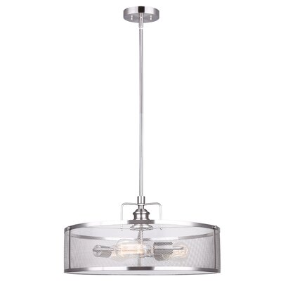 Suismon 3-Light Semi Flush Mount