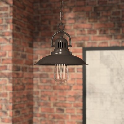 Meridian 1-Light Mini Pendant Size: 9 H x 9.5 W