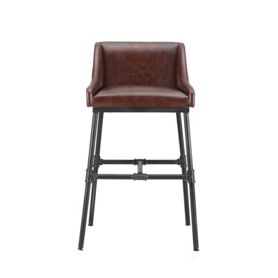 Mccormick Bar Stool Upholstery: Desert Red