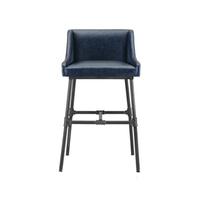 Mccormick Bar Stool Upholstery: Midnight Blue