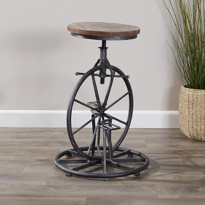 Bryana Adjustable Height Swivel Bar Stool