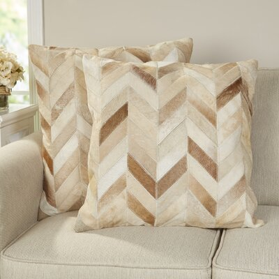 Altoona Throw Pillow Color: Multi  /  Tan, Size: 18 H x 18 W