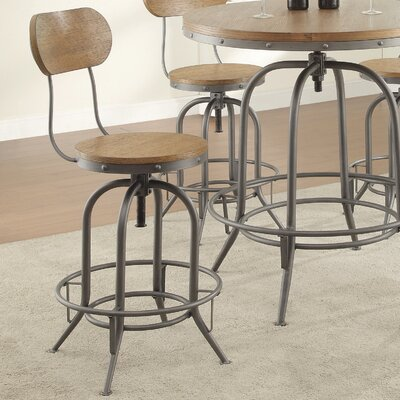 Doliver Adjustable Height Swivel Bar Stool