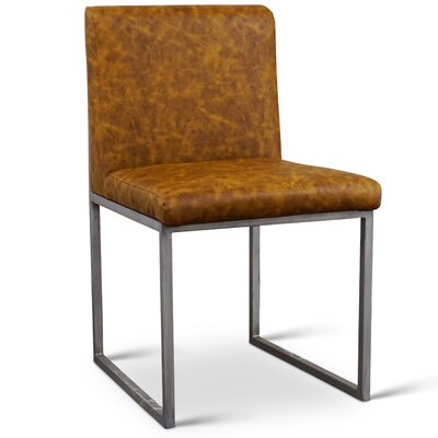 Sofia Side Chair Upholstery: Vinyl - Cognac