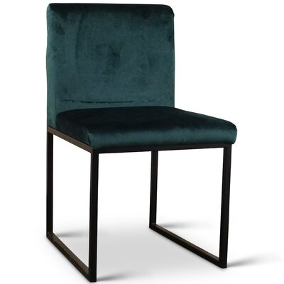 Rainford Side Chair Upholstery: Polyester - Dark Green