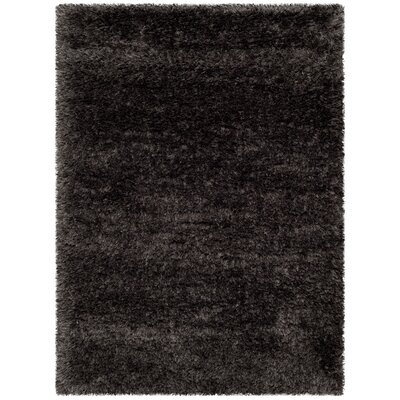 Adaline Black Area Rug Rug Size: Rectangle 53 x 77