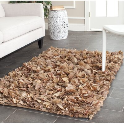 Carrol Hand-Tufted Brown Area Rug Rug Size: Rectangle 3 x 5