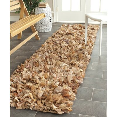 Carrol Hand-Tufted Brown Area Rug Rug Size: Runner 23 x 9