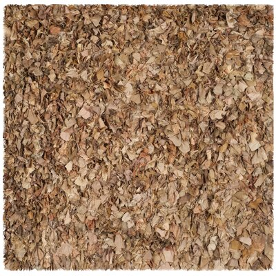 Carrol Hand-Tufted Brown Area Rug Rug Size: Square 6