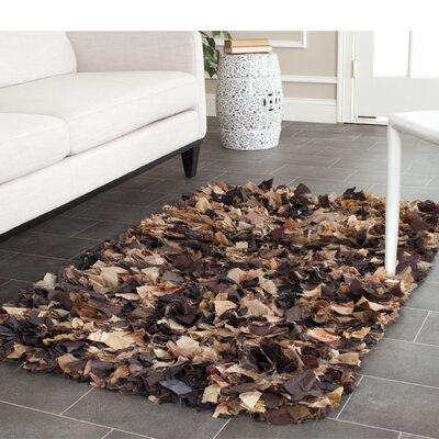 Carrol Solid Brown Area Rug Rug Size: Rectangle 23 x 39