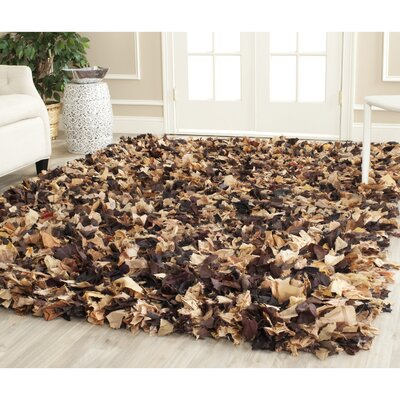 Carrol Solid Brown Area Rug Rug Size: 5 x 8