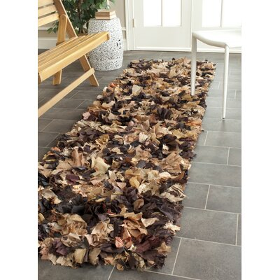 Carrol Solid Brown Area Rug Rug Size: Runner 23 x 9