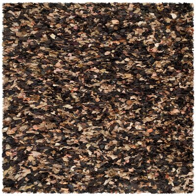 Carrol Solid Brown Area Rug Rug Size: Square 8