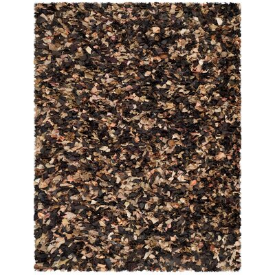 Carrol Solid Brown Area Rug Rug Size: Rectangle 8 x 10