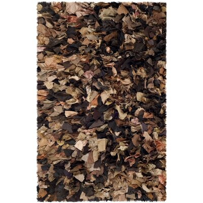Carrol Solid Brown Area Rug Rug Size: Rectangle 26 x 4