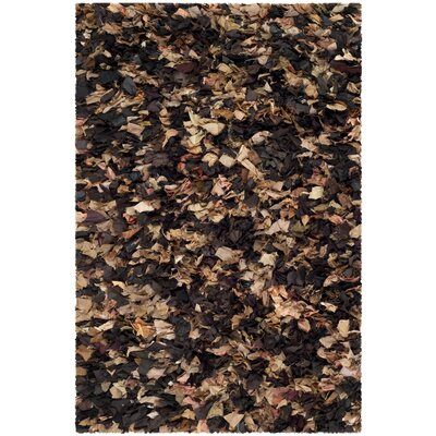Carrol Solid Brown Area Rug Rug Size: 4 x 6