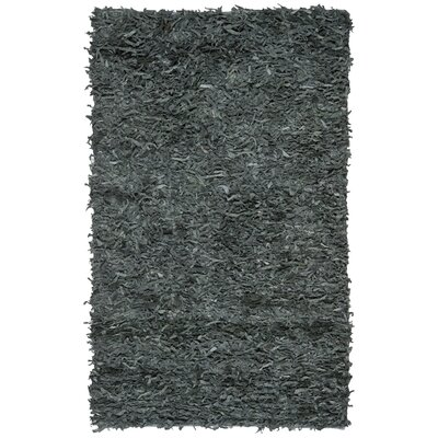 Norma Leather Shag Grey Rug Rug Size: 5 x 8