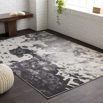 Aberdine Black/Light Gray Area Rug Rug Size: 76 x 106