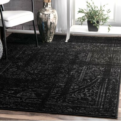 Cromwell Black Area Rug Rug Size: Rectangle 76 x 96